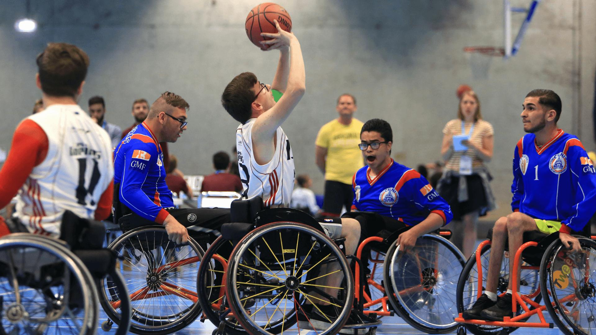 Handisport Valence joue au basket